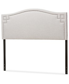 Aubrey Fabric Upholstered Full Size Headboard, Quick Ship