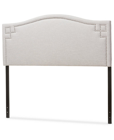 Aubrey Fabric Upholstered Full Size Headboard, Quick Ship