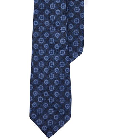 lauren ralph lauren mens indigo neat print tie - Ralph Lauren Indigo