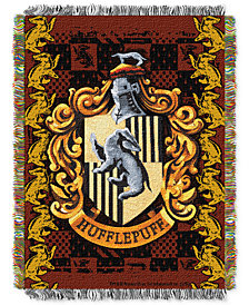 Warner Brothers Harry Potter Hufflepuff Crest Triple Woven Tapestry Throw