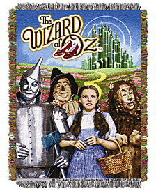 Warner Brothers The Wizard of Oz Group Triple Woven Tapestry Throw