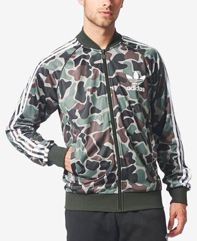 adidas originals men 39 s camo print superstar track jacket coats jackets men macy 39 s. Black Bedroom Furniture Sets. Home Design Ideas