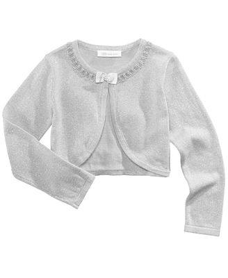 Bonnie Jean Flyaway Metallic Cardigan Little Girls Sweaters