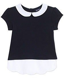 Nautica Scalloped-Hem Blouse, Little Girls
