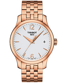 Tissot Women's Swiss Tradition Rose Gold-Tone Stainless Steel Bracelet Watch 33mm