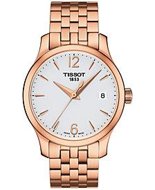 Tissot Women's Swiss Tradition Rose Gold-Tone Stainless Steel Bracelet Watch 33mm