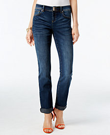 I.N.C. Curvy-Fit 5-Pocket Straight-Leg Jeans, Created for Macy's