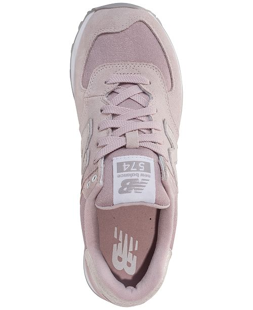 4cc1b3f2fd6f7 New Balance Women's 574 Shattered Pearl Casual Sneakers from Finish ...