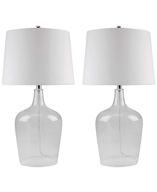Abbyson Living Abbyson Set Of 2 Zen Clear Glass Table Lamps