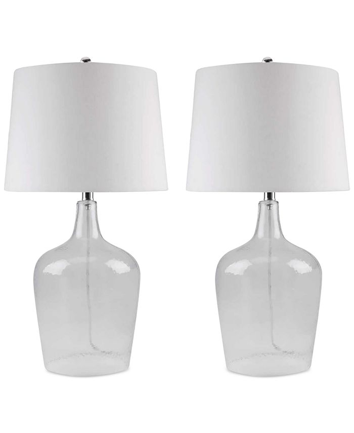 Abbyson Living - Set of 2 Zen Clear Glass Table Lamps