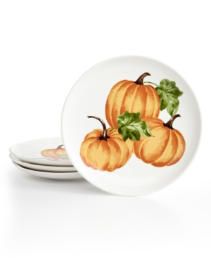 Martha Stewart Collection Harvest 4Pc Decaled Salad Plate Set Created for Macys