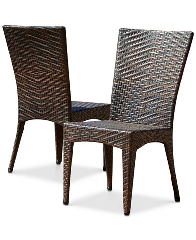 Gladin Wicker Chairs Set of 2, Quick Ship