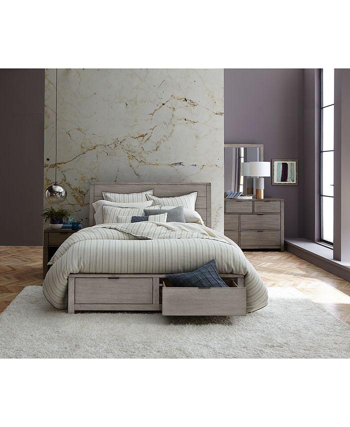Furniture Tribeca Storage Bedroom, Macys Tribeca Grey Queen Bed