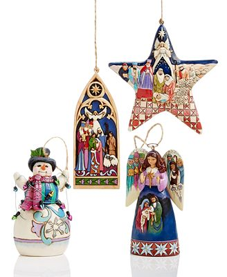 Beautifully Designed In The Folk Art Style Of Jim Shore These Special Ornaments Tell A Timeless Story At The Heart Of The Season
