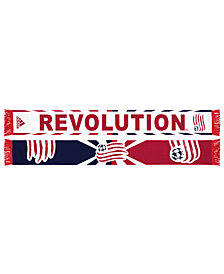 adidas New England Revolution Jacquard Wordmark Scarf