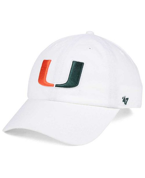 b63bdb7567af9  47 Brand. Miami Hurricanes CLEAN UP Cap. Be the first to Write a Review.   27.99