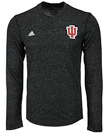 adidas Men's Indiana Hoosiers Henley Long Sleeve T-Shirt