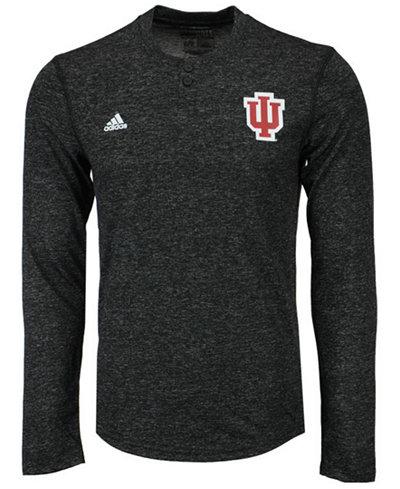 adidas Men's Indiana Hoosiers Henley Long Sleeve T-Shirt