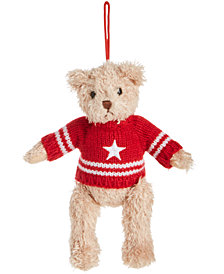 Gund® Red Sweater Ornament Bear, Created for Macy's