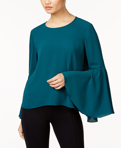 Vince Camuto Bell-Sleeve Top, Created for Macy's