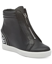 DKNY Connie Slip-On Wedge Sneakers, Created For Macy's