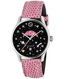 Women's Swiss G-Timeless Pink Lizard Leather Strap Watch 36mm