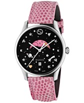 d7c07c9ede5 Gucci Women s Swiss G-Timeless Pink Lizard Leather Strap Watch 36mm