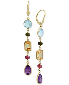 EFFY® Multi-Gemstone Drop Earrings (15-1/2 ct. t.w.) in 14k Gold