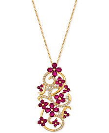 Le Vian® Certified Passion Ruby™ (2-3/4 ct. t.w.) & Diamond (1/2 ct. t.w.) Pendant Necklace in 14k Gold