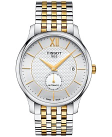 Tissot Men's Swiss Automatic Tradition Two-Tone Stainless Steel Bracelet Watch 40mm