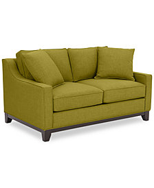"Keegan 59"" Fabric Loveseat - Custom Colors, Created for Macy's"