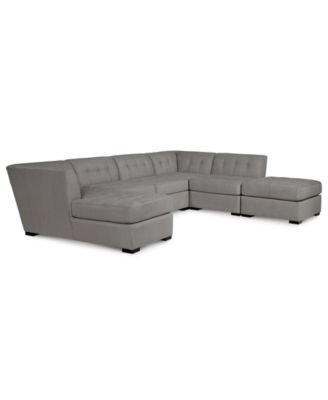Roxanne II Performance Fabric 6-Pc. Modular Sofa with Chaise u0026 Ottoman Created  sc 1 st  Macyu0027s : tufted sofa sectional - Sectionals, Sofas & Couches