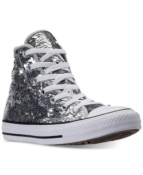 810b3e470b4 ... Finish Line  Converse Women s Chuck Taylor Sequin High-Top Casual  Sneakers from Finish ...