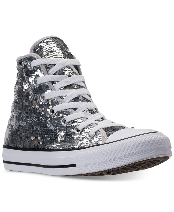 Converse - Women's Chuck Taylor Sequin High-Top Casual Sneakers from Finish Line