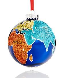 Holiday Lane World Traveler Color Beaded Globe Ornament Created For Macy's