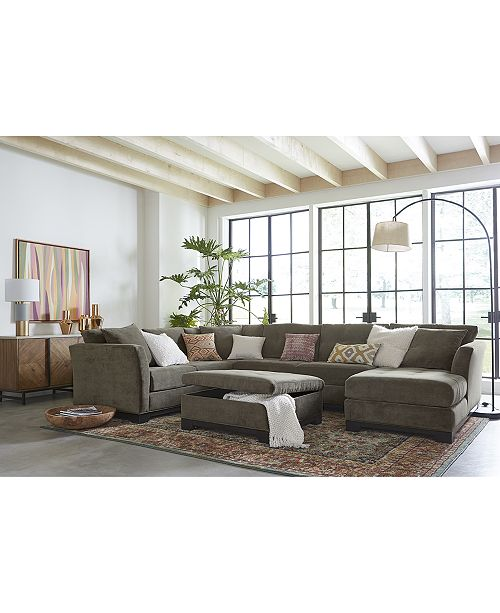 Furniture CLOSEOUT! Elliot Fabric Sectional Collection