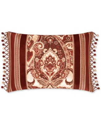 "Rosewood Burgundy 15"" x 21"" Decorative Pillow"