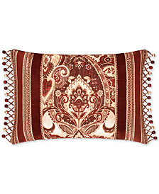 "J Queen New York Rosewood Burgundy 15"" x 21"" Decorative Pillow"
