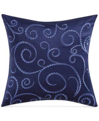 """Alfresco Embroidered 18"""" Square Decorative Pillow"""