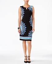 1bdaca4a117 JM Collection Zoey Printed Sheath Dress, Created for Macy's