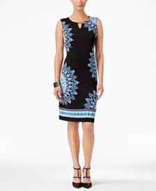 JM Collection Zoey Printed Sheath Dress, Created for Macy's