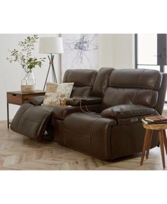 furniture barington 85 leather sofa with 2 power recliners power rh macys com flexsteel power recliners sofa power recliners sofa on sale