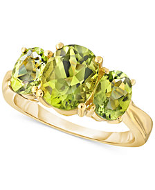Peridot Three-Stone Ring (2-1/2 ct. t.w.) in 10k Gold