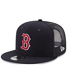 New Era Boston Red Sox On Field Mesh 9FIFTY Snapback Cap