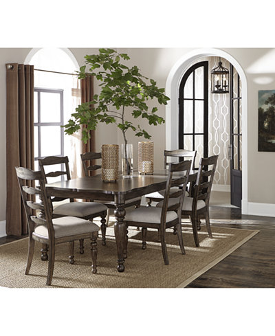 CLOSEOUT! Hamilton Expandable Dining Furniture Collection, Created ...