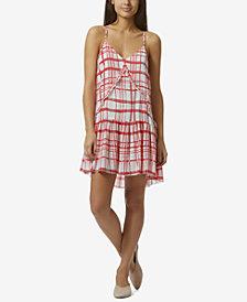 Avec Les Filles Grid-Print Drop-Waist Dress