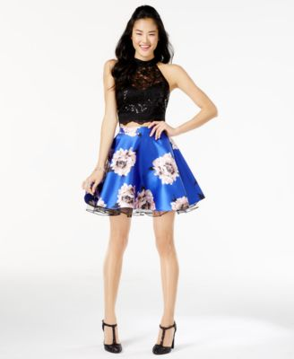 White floral dress for juniors