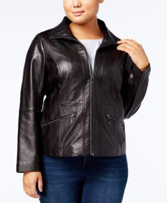 Plus Size Leather Jackets: Shop Plus Size Leather Jackets - Macy's