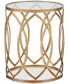 Amir Metal Eyelet Accent Table, Quick Ship