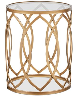 Sale alerts for  Arlo Metal Eyelet Accent Table, Quick Ship - Covvet